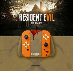 Joy Con Resident Evil 7 (Biohazard). If U like it, follow me on Twitter ! joycon, nintendo switch, dock, joy-con