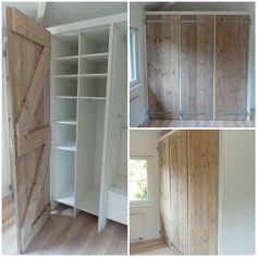 Kastdeuren Deze kastdeuren zijn in opdracht gemaakt voor een kledingkast en zijn 2,50 mtr (h) bij 0.80 mtr (b). Deze deuren staan in een won...