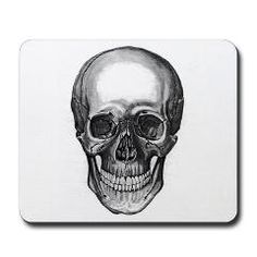 """SMILIE skull Mouse pad   """"Art is a pigment of your Imagination"""" ~Flying Pigment Studio~ Artist: Darcy Gerdes"""