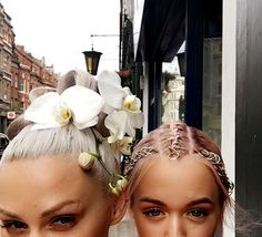 lou teasdale_living orchid hair ornament-braid rings