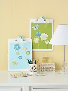 Spring Themed Clipboard for Mom...I would get a lot of use out of this!  {Just sayin'...}