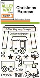 Christmas Express TAWS, The Alley Way Stamps, Clear Stamps, handmade cards