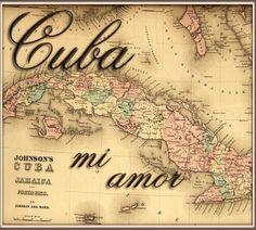 Cuba Mapa Para La Clase Pinterest Latin America Caribbean - Vintage map of cuba