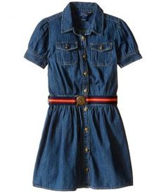 Polo Ralph Lauren Kids Denim Shirtdress (Little Kids) (Quincy Wash) Girl's Dress
