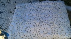 Vintage Ecru Crocheted Tablecloth  Star by CottonCreekCottage, $48.00