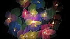 Ideas art for everyone, DIY - Joanna Wajdenfeld: colorful, glowing flowers with pantyhose