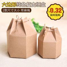 复古六边形牛皮纸盒饼干盒茶叶包装盒外包装纸盒灯笼喜糖盒西点盒