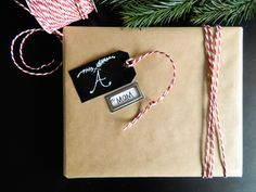 Poppytalk: 5 Minute Gift Tag DIY + Wrap Inspiration