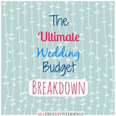 wedding budget percentage