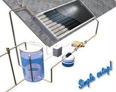 Solar hot water heater setup
