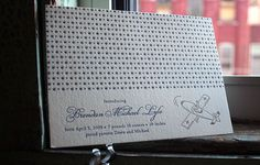 Adorable letterpressed baby announcement