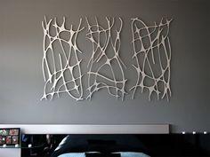 Intricate Modern Wall Art: Art Nouveau Web TRIO in Brushed Aluminum Extra Large Metal Sculpture Metal Sculpture Wall Art, Metal Tree Wall Art, Wall Sculptures, Metal Art, Tree Sculpture, Boutique Interior, Art Nouveau, Cheap Wall Art, Extra Large Wall Art