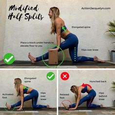 """2,869 Likes, 52 Comments - Yoga and Barre Instructor (@actionjacquelyn) on Instagram: """"✨THREE-LEGGED DOWNWARD DOG ✨Swipe to see a second tutorial showing this pose from the side…"""" #YogaPostures,RoutinesAndPoses"""