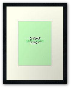 GYM? I thought you said GIN! - MINT