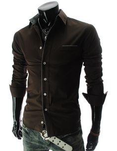 Slim Fit Long Sleeve Shirt with Pattern Detail