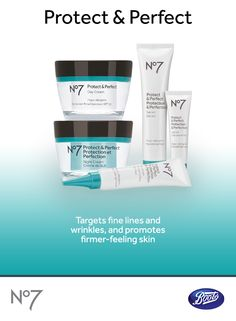 Smooth fine lines and help delay new ones with the protecting & revitalizing Boots No7 Protect & Perfect range.
