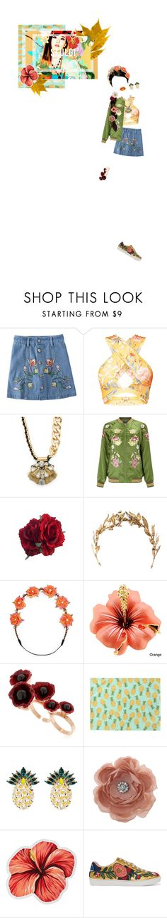 """""""Happiness pt 3"""" by willa-vanilla ❤ liked on Polyvore featuring Miss Selfridge, Laurel Wreath Collection, Carole, Futuro Remoto, Anton Heunis, LaMont and Gucci"""