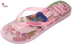 Havaianas IPE Pink Multi Womens Summer Beach Flip Flops-37 - Chaussures havaianas (*Partner-Link)