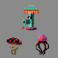Bloom Shrooms is a vertical action-adventure game in development by Grow your shrooms high! Pixel Art Gif, Pixel Art Games, Game Character Design, Game Design, Character Art, Pixel Life, 8 Bit Art, Pixel Animation, Creature Design