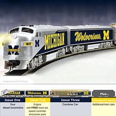 University Of Michigan Go Blue Express Electric Train Collection