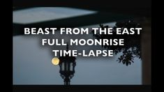 Beast from the East Full Moonrise Time-Lapse Royalty Free Footage