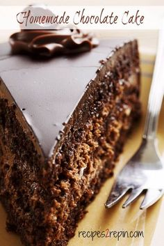 Easy Moist Chocolate Cake (recipe does not include Ganache frosting nor filling )