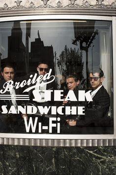 Arctic Monkeys. Broiled steak sandwich and wi-fi.