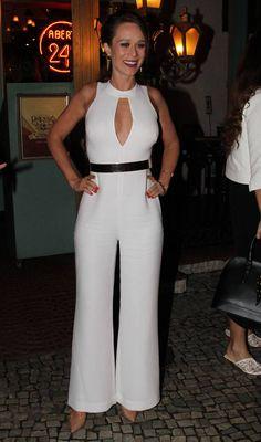 Mariana Ximenes macacão branco
