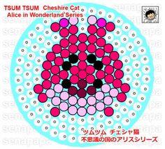 Tsum Tsum Alice in Wonderland Cheshire Cat Perler Bead Pattern