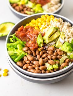 This 6 Ingredient brown rice burrito bowl is a really easy vegan meal it is possible to put together fast with only a couple of straightforward ingredients. You are going to require romaine pinto beans, lettuce, brown rice, corn, avocado and salsa. Southern Fried Cabbage, Bacon Fried Cabbage, Bolognese Recipe, Lentil Bolognese, Vegan Recipes Easy, Vegan Meals, Healthy Meals, Free Recipes, Soup Recipes