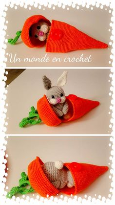 Cute bunny in a carrot