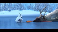 "Frozen ""Let Me Have"" Olaf and Sven Wallpaper"
