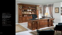 Luxusní pracovna z masívního dřeva od Cappellini Intagli http://www.saloncardinal.com/thumbnails/4fc77e3e-48a4-4782-b618-16ee2e696b7c/950x700