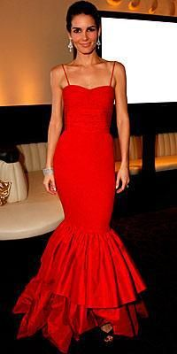 Who made Angie Harmon's red long dress?Dress – Valentino