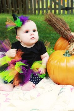 Baby witch halloween costume!