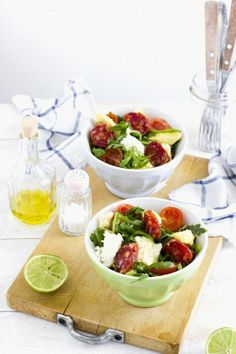 Salad With Aragula And Mozzarella