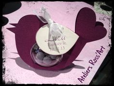 Boite à dragées originale personnalisée baptême communion thème oiseau : Cadeau de remerciement par ateliers-ross-art