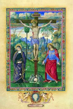 "Pinturicchio, ""Crocifissione"", Biblioteca Apostolica Vaticana"
