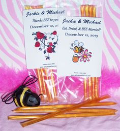 Find Personalized Honey Stix Favors For All Occasions at Wholesale Favors, along with other wedding favors and personalized gifts. Unique Party Favors, Inexpensive Wedding Favors, Edible Wedding Favors, Personalized Wedding Favors, Personalized Christmas Gifts, Class Reunion Favors, Anniversary Favors, Baby Shower Favors, Customized Gifts