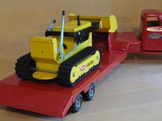 mixed lot of 3 -1954 Tonka semi-tractor trailer cab & flat bed plus 60s dozer. * in Toys, Hobbies, Diecast Vehicles, Cars, Trucks & Vans | eBay
