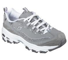 91a0f8d2fcb Skechers D Lites - Me Time Grey White Sketchers Shoes Women