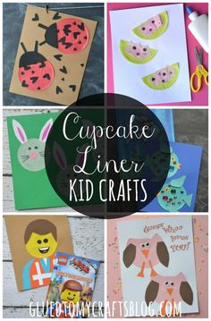 Cupcake Liner Kid Craft Roundup