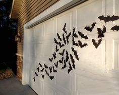 This colony of bats is looking for a place to call home. These bats are cut from waterproof foam. Use masking tape to hang these light weight bats outside on the siding of your house, or indoors. They are water resistant and can be reused. The largest bat measures approximately 11 inches wide and 4 inches tall. This bat colony includes 16 bats total - 7 different bat silhouettes included.  Tip: When using to decorate outdoors, place a small amount of tape on the back of the bats body and…