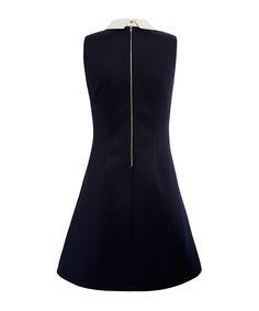 Louche Carelle navy contrast collar dress, Designer Dresses Sale, Louche , SECRETSALES
