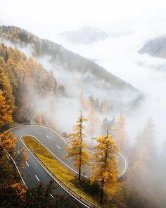 Swiss mountain road by joni hedinger (@jonihedinger) on Instagram