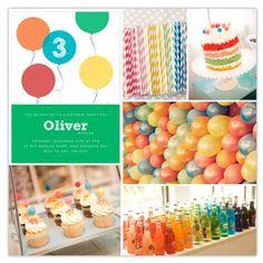 Balloon party inspiration Thanks rainbow-balloon-birthday-party! Balloon Birthday Themes, Balloon Party, First Birthday Parties, Birthday Party Decorations, First Birthdays, Birthday Ideas, Kids Art Party, Rainbow Balloons, Party Time