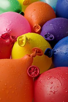 colors.quenalbertini: Balloons Filled with Water, Garry Gay Photo on Getty Images | It's a Colorful Life