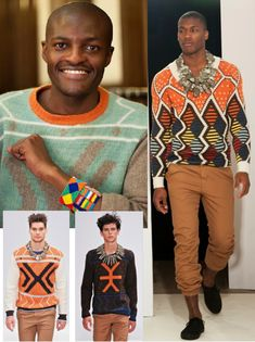 Laduma Ngxokolo, South African fashion designer, was inspired by the culture and rituals of the Xhosa tribe,
