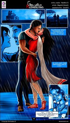 Sivappu Kal Mookuthi (a.a Girl with a Red Nose Ring): Page 11 & 12 Comic Book In Hindi, Online Comic Books, Comics Online, Hindi Books, Free Comics, Horror Comics, Horror Books, Comics Girls, Costumes