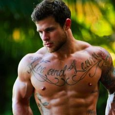 Upper Chest Tattoos For Guys - Motivational Quotes - Live and Learn